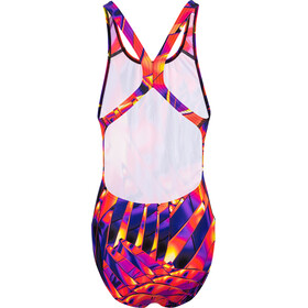 speedo Fractal Glaze Placement Digital Swimsuit Women lava red/royal purple